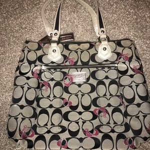 Coach Purse with Pink Hearts